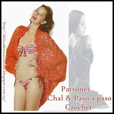 Delicacies in crochet Gabriela: Shawl with sleeves