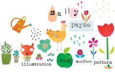 Illustration and surface pattern Blog Banner, Banner Ideas, Pattern Illustration, Grow Your Own, Art Club, Surface Pattern, Kids Decor, Sally, Header Design