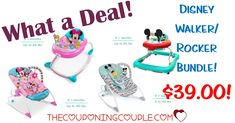 HOT BUNDLE! Get a Disney Walker AND Rocker for only $39 (reg $87.75!) Great gift idea! Choose from Mickey Mouse or Minnie Mouse!  Click the link below to get all of the details ► http://www.thecouponingcouple.com/disney-walker-rocker-bundle/ #Coupons #Couponing #CouponCommunity  Visit us at http://www.thecouponingcouple.com for more great posts!