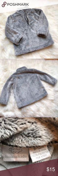 🎉HP 11/25/17🎉 Koala Kids furry zip up Gently loved half way furry zip up. Baby boy loves the softness. Koala Kids Jackets & Coats