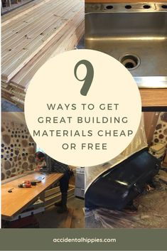 9 Ways to Get Building Materials Cheap or Free We built our house with recycled, reclaimed, reused, and deeply discounted items. These are our 9 top strategies for getting great building and home materials on the cheap or even for FREE. Cute Dorm Rooms, Cool Rooms, Farmhouse Side Table, Old Farm Houses, Ship Lap Walls, Farmhouse Design, Cheap Home Decor, Home Projects, Living Room Designs