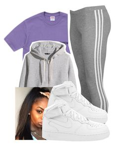 """""""7/8/16"""" by lookatimani ❤ liked on Polyvore featuring H&M, adidas Originals and NIKE"""