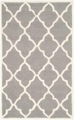 Carson Dark Grey/Ivory Textured Rug | Wayfair UK