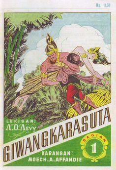 Vintage Indonesian Wayang Comic