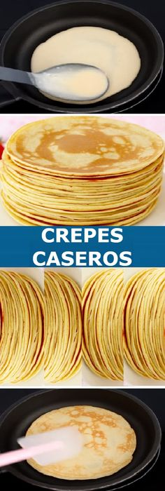 Best Cake Recipes, Other Recipes, Sweet Recipes, Favorite Recipes, Crepes And Waffles, Crepes Masa, Crepe Recipes, Brunch Recipes, Chocolate Crepes