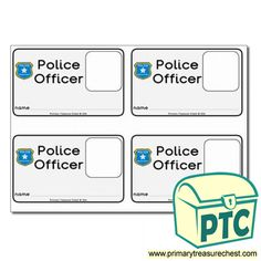 US Police Department Role Play Resources - Primary Treasure Chest