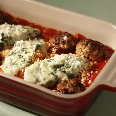 Gnudi With Veal Polpettine - Make with less spinach next time - but delish