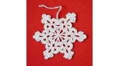 Horgolt függődísz (hópihe) - Karácsonyi díszek