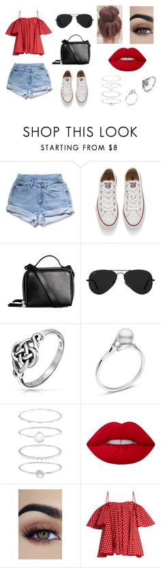 """""""4th of July outfit"""" by sarapotter98 on Polyvore featuring Levi's, Converse, Ray-Ban, Bling Jewelry, Accessorize, Lime Crime and Anna October"""