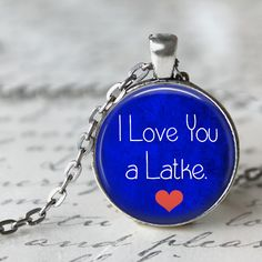 I Love You a Latke Pendant, Necklace or Key Chain - Hanukkah Pendant Necklace - Choice of Silver, Bronze, Copper or Black by Analiese on Etsy