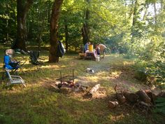 The private campground on the bank of the James River at Rockcliffe Farm Retreat and Lodge