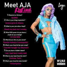 """9 Questions With """"RuPaul's Drag Race"""" Season 9 Queen Aja - The WOW Report"""