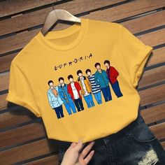 Kpop Outfits, Outfits For Teens, Cute Outfits, Boys T Shirts, Casual T Shirts, T Shirts For Women, Bts T-shirt, Bts Hoodie, Bts Clothing