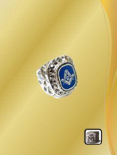 Anillo de Acero Azul Class Ring, Rings, Jewelry, Steel, Blue Nails, Jewlery, Bijoux, Jewerly, Ring