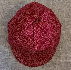Image of Red Seigaiha Cycling Cap