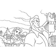 Beauty and the beast gaston beauty and the beast for Gaston coloring pages