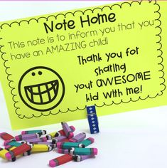 Positive Notes for Students and Parents - First Grade Blue Skies- FREE teachers pay teachers First Grade Classroom, New Classroom, Kindergarten Classroom, Classroom Decor, Circus Classroom, Classroom Community, Kindergarten Activities, Preschool Ideas, Parent Teacher Communication