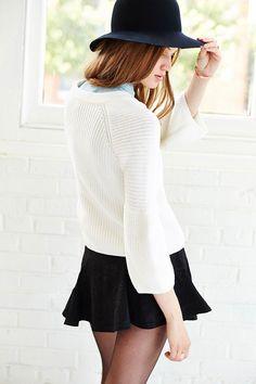 Silence + Noise Jacquard Flouncy Mini Skirt - Urban Outfitters