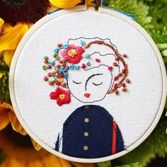 #elenacaron I was dealing with a mess at my studio from busted pipes. Here is a little 4 inch embroidery to get back in the work mode.