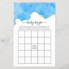 Baby Blue and Gold Agate Boy Baby Shower Bingo Baby Bingo, Baby Shower Bingo, Baby Shower Parties, Baby Shower Invitations, Shower Party, Holiday Cards, Christmas Cards, Christmas Card Holders, Hand Sanitizer