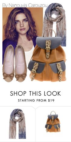 """""""Camel backpack with leopard details"""" by nanouyia ❤ liked on Polyvore"""