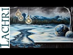 """Time Lapse Surreal winter landscape in acrylic and oil paint """"Speed Painting"""" by Lachri"""