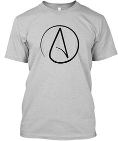 7419b8af #AtheismSymbol Proud Atheist #AntiReligion T-Shirt. #reason #atheistic  #science