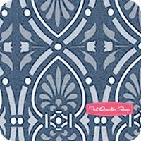 Moonflower Navy Medallions Yardage SKU# 22919-K