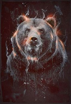 Nature Of The Beast: Walk With Wilderness. Best Be Better, Because, Brute Bear Beware! Take A Walk In The Woods, With The Out Most Respect For Nature And All Her Creatures. Grizzly Bear Tattoos, Bear Drawing, Power Animal, We Bear, Bear Wallpaper, Bear Pictures, Bear Art, Tier Fotos, Animal Totems