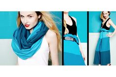 Love this two-tone scarf!