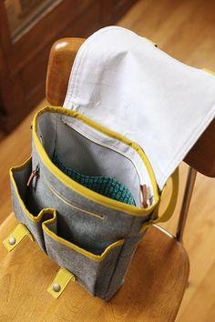 Campfire Messenger Bag PDF Pattern