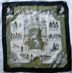 Auth Foulard HERMÈS L ECOLE ESPAGNOLE DE VIENNE LEDOUX soie vintage scarf f55066e950f