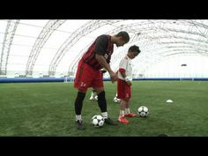 Learn the amazing skills from the AC Milan Junior Camps with skills coaching from football freestyle star Jeremy Lynch - in this lesson learn how different T. U7 Soccer Drills, Football Drills, Soccer Skills, Soccer Coaching, Soccer Training, Soccer Gifs, Soccer Videos, Coaching Skills, Soccer Pictures