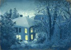Sketch: Snow at Night