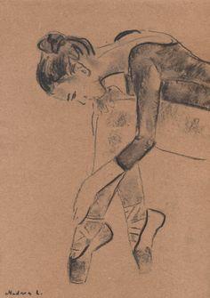 Sketch of a Ballerina. Ballet Dancer. Ballerina.