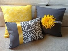 decorative bed pillows--with a lot of help from my mom! Cushion Cover Designs, Pillow Cover Design, Designer Bed Sheets, Designer Throw Pillows, Cute Pillows, Diy Pillows, Cushion Embroidery, Couch Cushion Covers, Pillow Crafts