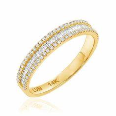 Heirloom Baguette Diamond Band | Baguette Diamond Rings | Liven