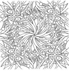 coloring pages for adults abstract flowers - Google Search