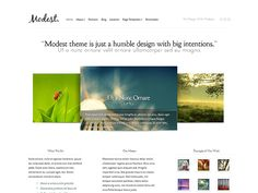 Es un diseño verdaderamente elegante y sencillo para presentar on line tu negocio