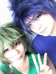 Shun & Ikki Selfie! XD .. Andromeda Shun by: |Д゚;))))ねね, Japanese Cosplayer - Site - http://en.curecos.com/profile/?ch=159616