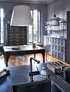 industrial vibe chic space