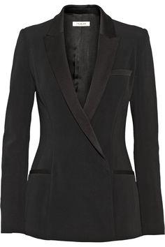 Mugler Satin-trimmed cady blazer NET-A-PORTER.COM