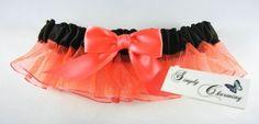 Neon Pink Ombre prom garter