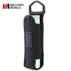 Outdoor Tactical Military Airsoft Durable Portable Flashlight Pouch Nylon Flashlight Holster Holder for LED Flashlight