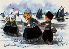 Delft Blue Children Postcard 1   Flickr - Photo Sharing!