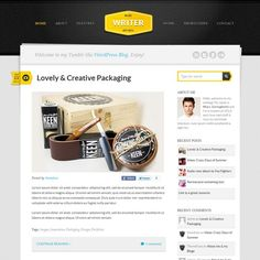 personal blog, or a small business website, the Writer theme is a great looking.