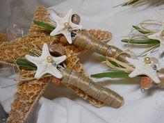 Champagne Starfish and Seashell Boutonniere by iDoArtsyWeddings, $25.00