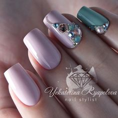 3 4 By luxury_nail_lab # # Glam Nails, Bling Nails, Beauty Nails, Cute Nails, Pretty Nails, Jewel Nails, Beautiful Nail Designs, Beautiful Nail Art, Hair And Nails