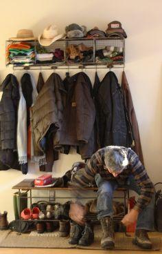 Coat Rack Coat Racks, Hudson Valley, Mudroom, My Dream Home, Shoe Rack, Harem Pants, Room Ideas, Stairs, Living Room
