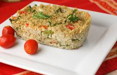Quinoa Vegetable Loaf. Quinoa is one  of my  favorite food! It boasts the most protein of any grain, is a great source of vitamins & minerals – iron, magnesium, Vit E, potassium, amino acids and fiber which makes it ideal for vegetarian or vegan diets. It is simple to cook, much like rice and takes 15 minutes from start to finish.